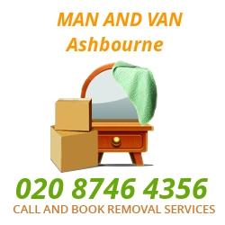 moving home van Ashbourne