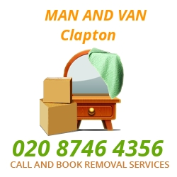 moving home van Clapton