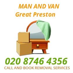 moving home van Great Preston