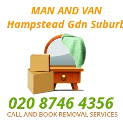 moving home van Hampstead Gdn Suburb