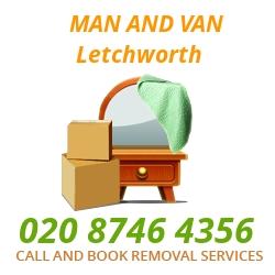 moving home van Letchworth