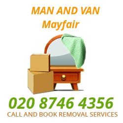 moving home van Mayfair