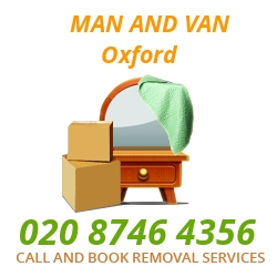 moving home van Oxford