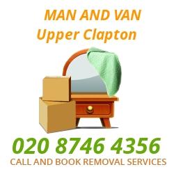 moving home van Upper Clapton