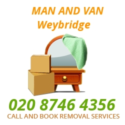 moving home van Weybridge