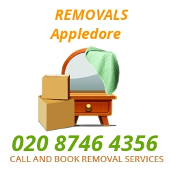 furniture removals Appledore