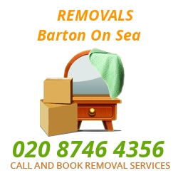 furniture removals Barton-on-Sea