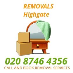 furniture removals Highgate