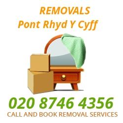 furniture removals Pont Rhyd-y-cyff