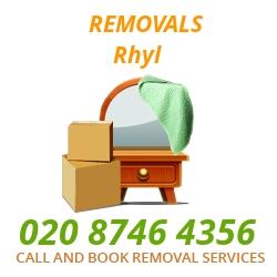 furniture removals Rhyl